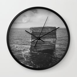 Dun Briste II Black and White Wall Clock