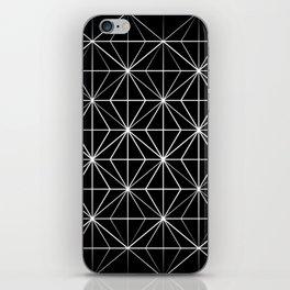 Geometric Pattern Black and White iPhone Skin