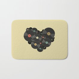 Heart of a Vinyl Lover Bath Mat
