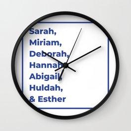 Jewish Female Prophets - Biblical Prophetesses Wall Clock
