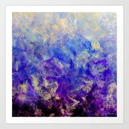 Lilac Sunset - Original Abstract Art by Vinn Wong Art Print