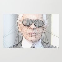 karl Area & Throw Rugs featuring ICONS: Karl Lagerfeld by LeeandPeoples
