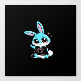 Death Metal Bunny Canvas Print