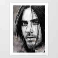 jared leto Art Prints featuring Jared Leto by Luna Perri