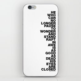 Stand Rapt In Awe quote iPhone Skin