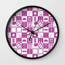 Contraception Pattern (Purple) Wall Clock