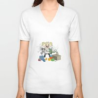 pacific rim V-neck T-shirts featuring Baby Pacific Rim by Bady Church