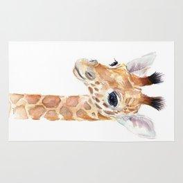 Baby Giraffe Cute Animal Watercolor Rug