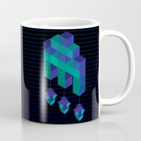 invader zim Mugs featuring Space Invader by Daniac Design