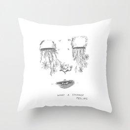 Strange Feeling Throw Pillow