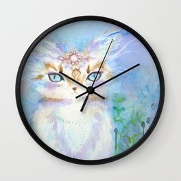 Lavadrille Cat : Guardian of the Mind Wall Clock