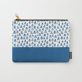 Triangles Blue Carry-All Pouch