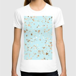 Blue Gold Modern Terrazzo T-shirt