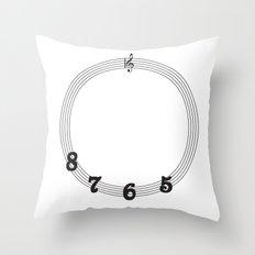 5 6 7 8 Treble Clef Throw Pillow