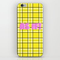 clueless iPhone & iPod Skins featuring Clueless by Stephanie Ross