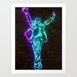 MJ neon art Art Print