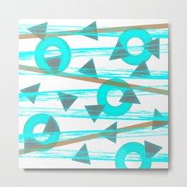 Shower Shapes Metal Print
