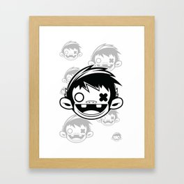 Sugar Monkey Framed Art Print