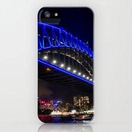Blue Harbour Bridge iPhone Case