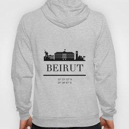 BEIRUT LEBANON BLACK SILHOUETTE SKYLINE ART Hoody