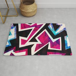 Psychedelic Abstract Colorful Urban Skate Graffiti Rug