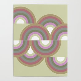 MINNA - Mid Century Modern Graphic Multicolor Poster