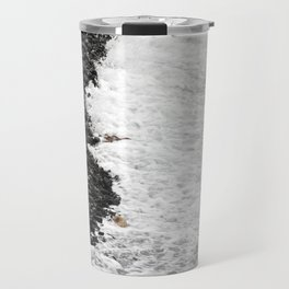 Tide on a Rocky Shore Travel Mug