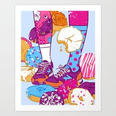 Don't step over donuts Art Print