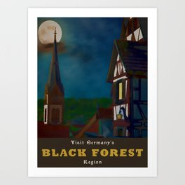 Black Forest Travel Poster Germany Art Print