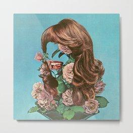 Floral Portrait - Surreal Bloom Metal Print