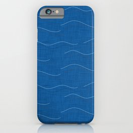 SHARK WHALE WAVES BLUE iPhone Case