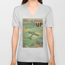 Vintage Book Cover - From the Ground Up - Standard Oil Company (1930) Unisex V-Neck