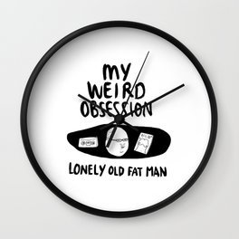 Lonely Old Fat Man Johnny Wall Clock