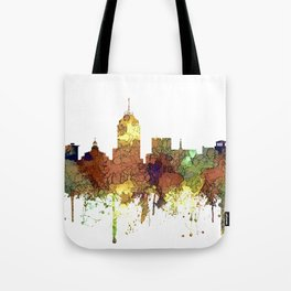 Fresno, California Skyline SG - Safari Buff Tote Bag