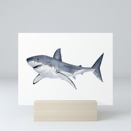 GREAT WHITE SHARK Mini Art Print