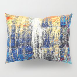 Golden Dawn, Abstract Landscape Art Pillow Sham