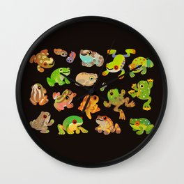 Tree frog - dark Wall Clock