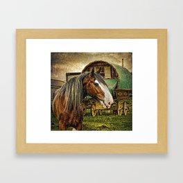 The Gypsy Vanner Framed Art Print