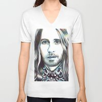 jared leto V-neck T-shirts featuring Jared Leto by ShayMacMorran