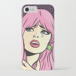 Pink Bangs Sad Girl iPhone Case