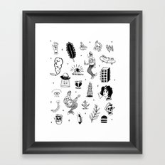 Flash Tattoos Framed Art Print