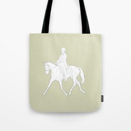 Dressage in Green Tote Bag