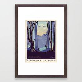 Explore The Forbidden Forest Framed Art Print