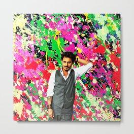 Johnny Depp - Celebrity Art Metal Print
