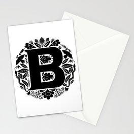 Letter B monogram wildwood Stationery Cards