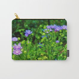 Lavender Blue Flowers Carry-All Pouch