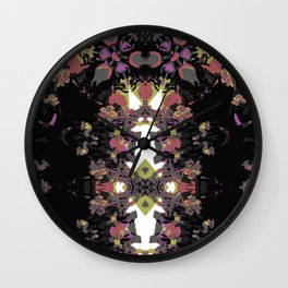 Abstract Stripe Print Wall Clock