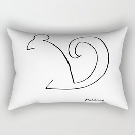 Pablo Picasso, The Squirrel, Artwork, Animals Line Sketch, Prints, Posters, Bags, Tshirts, Men, Wome Rectangular Pillow