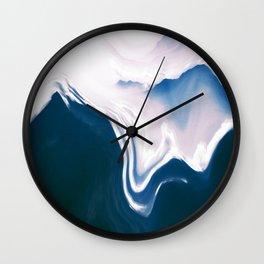 Distorted Mountains II Wall Clock