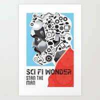 stanley kubrick Art Prints featuring Stan the Man: Stanley Kubrick by kelsea everett